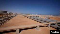 (File) The Libyan Oil Refining Company (LERCO) in Ras Lanuf, about 660 km (410 miles) west of Tripoli.