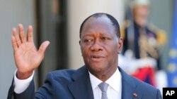 Le président ivoirien Alassaen Ouattarra, 16 juin 2915.