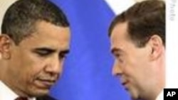 President Barack Obama and Russia's President Dmitry Medvedev