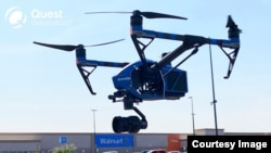 Walmart has partnered with drone services company DroneUp and laboratory Quest Diagnostics to deliver coronavirus test kits to some Nevada customers near Walmart stores. (Walmart)