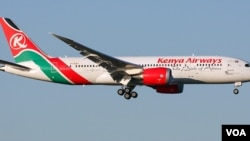 Ndege ya shirika la Kenya Airways safarini