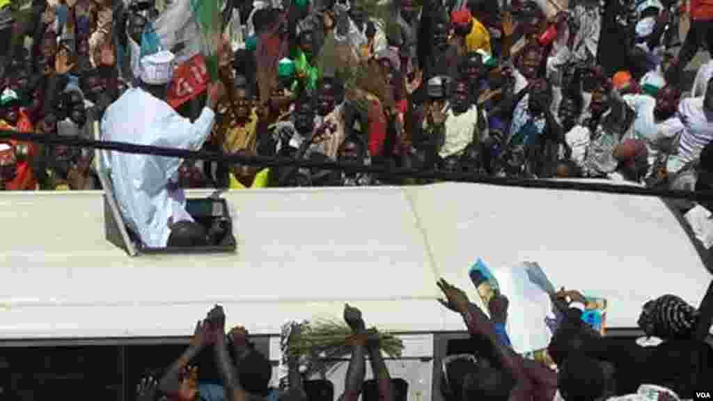 Janaral Buhari a Gombe, Fabrairu 3, 2015.