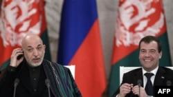 Хамид Карзай и Дмитрий Медведев