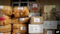 مواد صحی امدادی ایالات متحده به شفاخانه بامیان