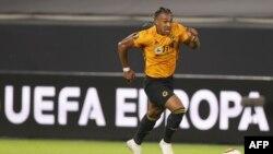 Adama Traore lors d'un match entre Wolverhampton et le FC Seville, Allemagne le 11 août 2020.