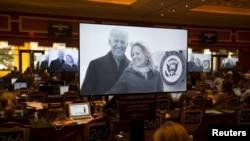 Joe Biden'ı yarışa katılmaya teşvik eden reklamlar, tartışmanın yapılacağı gün televizyonlarda gösterime girdi
