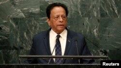 Le Premier ministre mauricien Anerood Jugnauth s'adresse à la 71e Assemblée générale des Nations Unies à New York, le 23 septembre 2016.