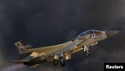 F-15 israélien, base aérienne de Hatzerim, sud d'Israël, le 30 juin 2016.