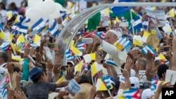 古巴民眾熱烈歡迎教宗到訪
