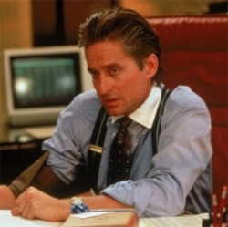 "Michael Douglas in ""Wall Street"""