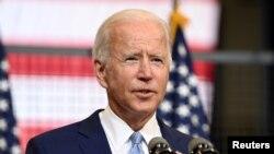 Kandidati demokrat Joe Biden duke folur në Pittsburgh (8 shtator 2020)