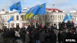 Ukraine, Crimea -- a rally to support the Universal Declaration of Human Rights. File
