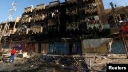 伊拉克巴格达汽车炸弹袭击现场