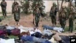 利比亞電視臺畫面顯示政府軍拘捕多名反政府份子