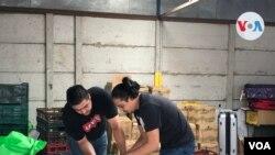 Voluntarios de la organización Corner of Love alistaron 500 paquetes de comida para nicaragüenses afectados por pérdida de empleo por el COVID-19 [Foto: Armando Gomez, VOA]