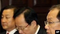 미 국무부의 '일본해' 발언을 논의하는 한국 국회의원들