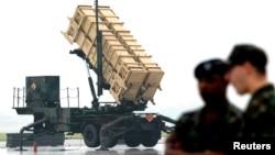 지난 2003년 9월 한국 수원 공군기지에서 미국의 '패트리엇-2(PAC-2)' 지대공 방어미사일 운용 시범을 실시했다. (자료사진)