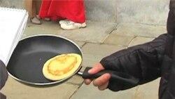 Pancake Races Observe Beginning of Lent