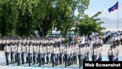 Foto nouvèl promosyon Polis nasyoanal Haiti a, PNH nan akademi polis la sou wout Frè nan Petyon Vil. 19 septanm 2018.