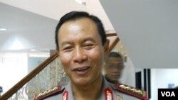 Kapolri Jenderal Pol Sutaman memastikan lebih dari 24.000 aparat gabungan Polri, TNI siap amankan pelantikan Presiden Jokowi dan Wapres Jusuf Kalla (VOA/Andylala)