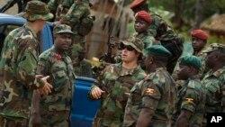 지난 2012년 4월 중앙아프리카공화국에 파병된 미군 툭수부대 소속 군인들이 현지 군인들과 대화하고 있다. (자료사진)