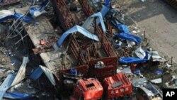 贵州福泉市马场坪镇爆炸现场