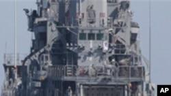 한국 천안함 구조 활동 난항