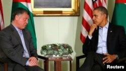 Obama Kaliforniyada, Iordaniya qiroli Abdulla bilan uchrashdi. 14-fevral, 2014-yil.