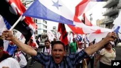Manifestações no Panamá durante a Cimeira das Américas