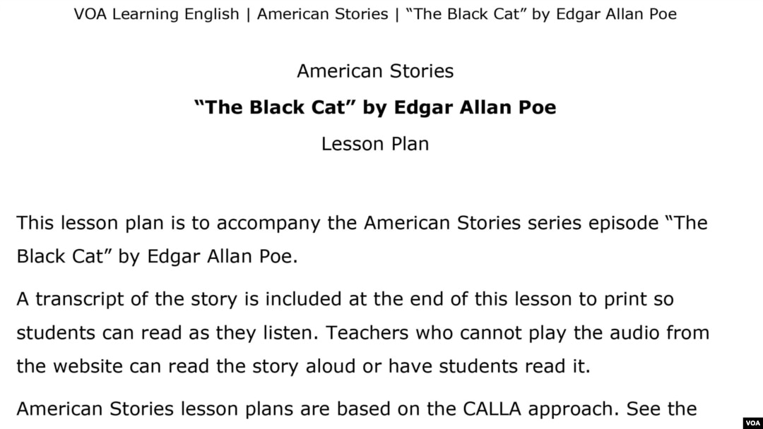 The Black Cat,' by Edgar Allan Poe
