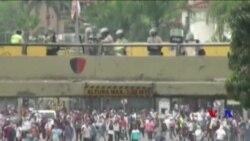 委內瑞拉民眾示威要求總統下台 (粵語)