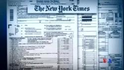 2016-10-03 美國之音視頻新聞: 川普稅務記錄再成焦點 紐時或招官司 特朗普