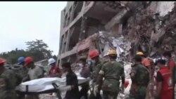 2013-05-02 美國之音視頻新聞: 孟加拉倒塌工廠大廈再發現更多屍體