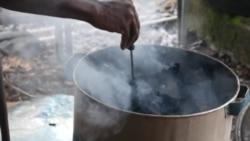 Au Nigeria, des coquilles de noix de palme pour fabriquer des briquettes de charbon