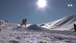 آغاز تمرینات اسکی در بامیان
