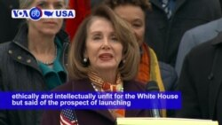 VOA60 America- Pelosi: Impeaching Trump 'Just Not Worth It'