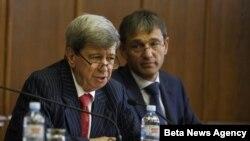 Šef delegacije Evropskog parlamenta za Jugoistočnu Evropu Eduard Kukan i šef Delegacije EU u Srbiji Vensan Dežer.