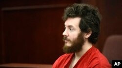 FILE - James Holmes in court, March 2013.