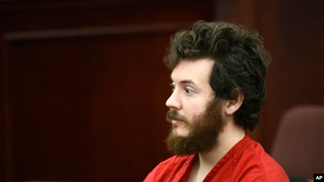 James Holmes in courtroom March 27, 2013