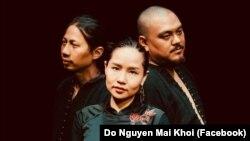 Các nghệ sĩ trình diễn trong đêm 8 tháng Chín, từ trái: Nguyễn Đắc Minh, Mai Khôi, Quyền Thiện Đắc. (Nguồn: FB Do Nguyen Mai Khoi)