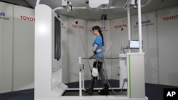 Toyota's Welwalk WW-1000 device is expected to be made available to medical centers in Japan this year.