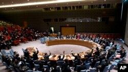 지난 3월 미국 뉴욕의 유엔본부에서 열린 안보리 전체회의에서 대북 제재 관련 결의안을 통과시켰다. (자료사진)