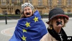 ბრექსიტის მოწინააღმდეგეთა აქცია ლონდონში