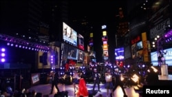 New Year's Eve celebrations in Times Square in New York December 31, 2012.