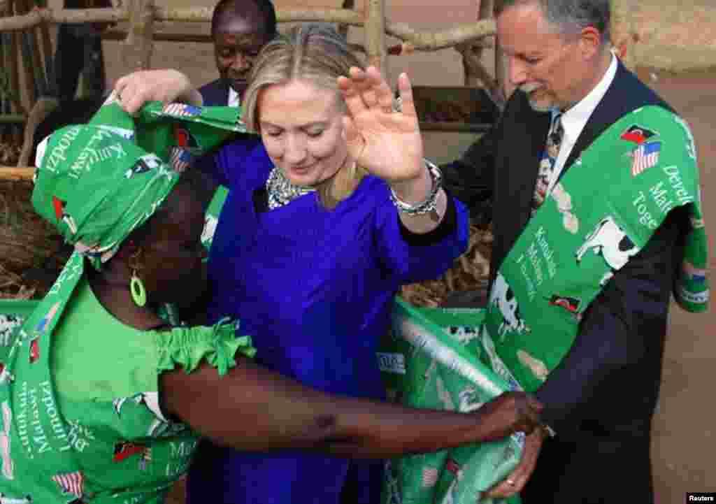 Хиллари Клинтон в Малави. 5 августа, 2012 г.