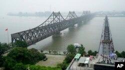 遼寧省丹東市連接中國和北韓的友誼橋(2017年9月9日)