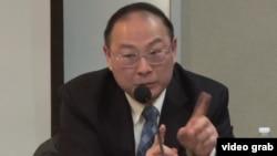 金燦榮在約翰.霍普金斯大學發表演講