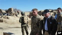 Outgoing U.S. Secretary of Defense Robert Gates in Afghanistan.
