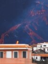 The Cumbre Vieja volcano continues to erupt, as seen from Tajuya, on the Canary Island of La Palma, Spain, October 24, 2021.
