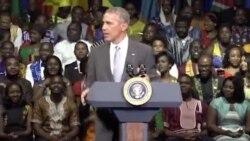 Vijana wa YALI wamuimbia Rais Obama wimbo wa Happy Birthday